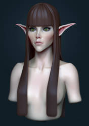 Elf Girl Character Development by HazardousArts