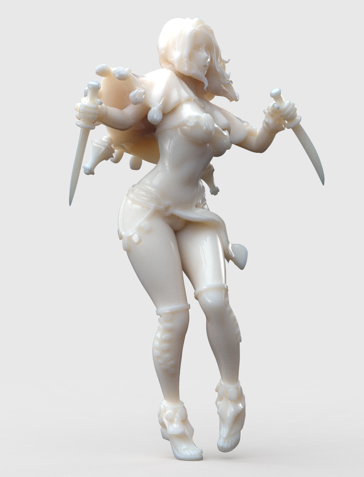 Kingdom Death: Sunstalker Dancer Marble by HazardousArts
