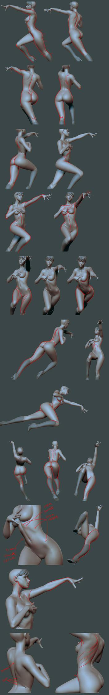 Morrigan Base Body Tweaks - Lines