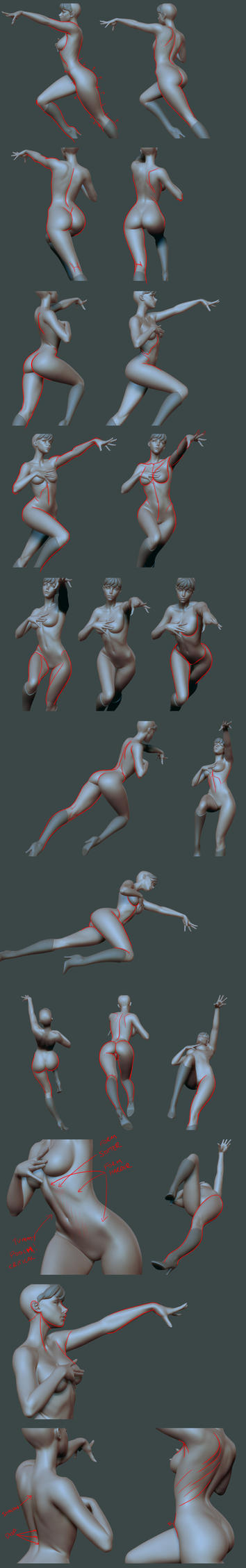 Morrigan Base Body Tweaks - Lines by HazardousArts