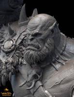 Orgrim Doomhammer 1:10 Scale Sculpture by HazardousArts
