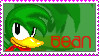 Bean the Dynimite stamp by catiexshadow