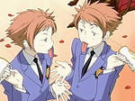ouran twins funny face