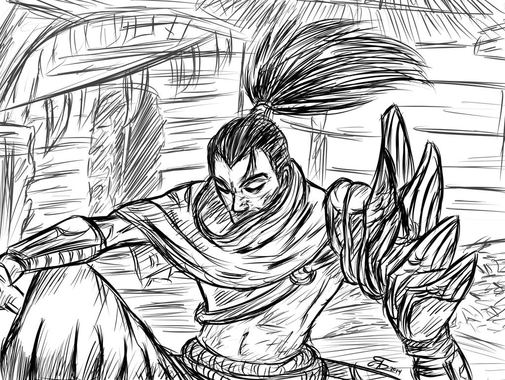 Yasuo Sketch By Trozte