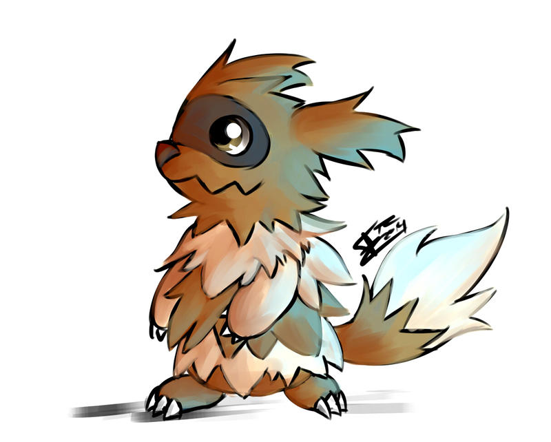 Wonder trade Zigzagoon_colored_doodle_by_trozte-d7b52dg