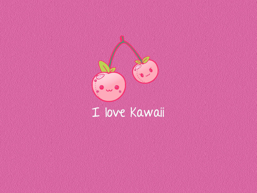 Wallpaper I love Kawaii by AliForever18
