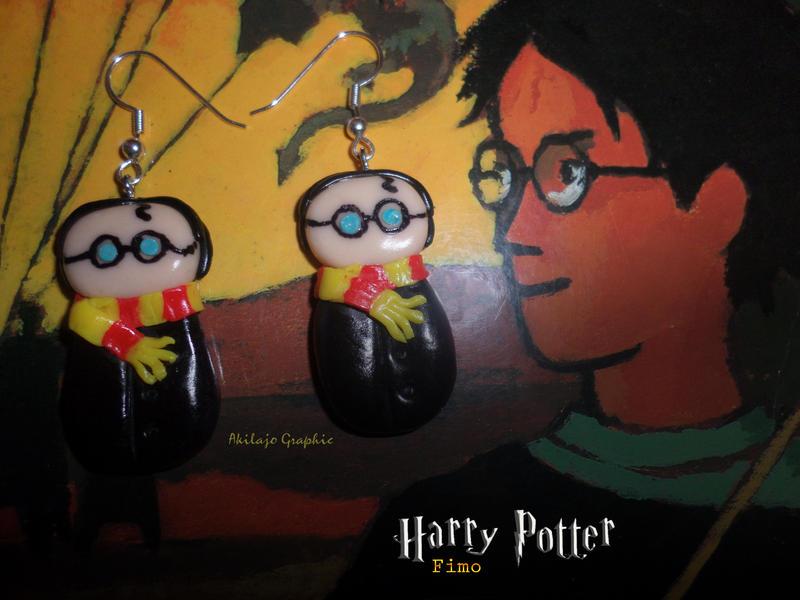 Boucles d'oreilles Harry Potter ( Fimo Earrings )