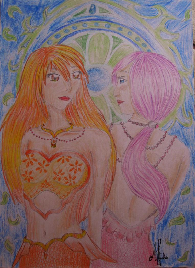 Twin Mermaids by FullMoonWarriors