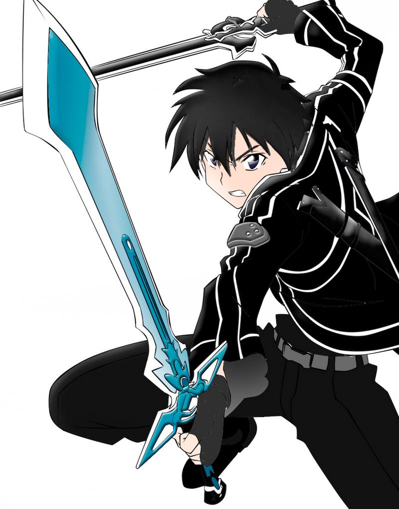 kirito (SAO) (sword art online) by DCROSSS