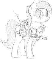 Fallout Equestria Battlesaddle Mare by ColgateFIM