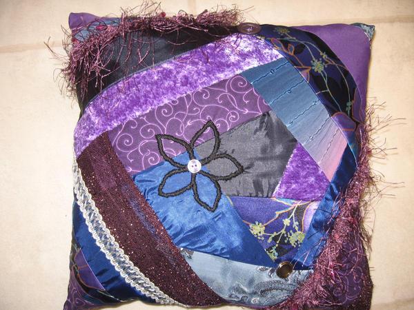 Purple Pillow by jazzthespazz