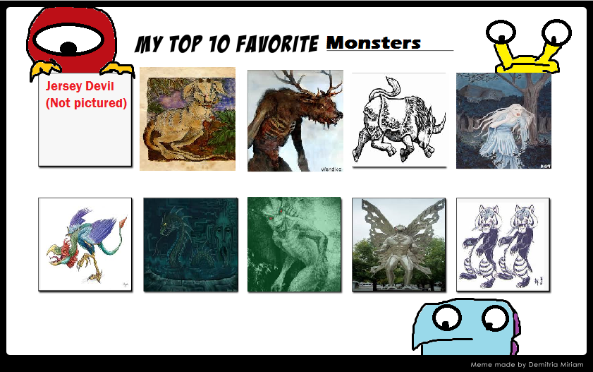 Kessie's Top 10 Favorite Monsters by KessieLou