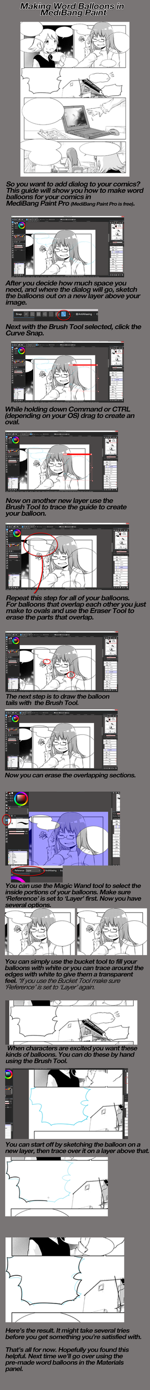 How to make word balloons for your comics by medibangadmin