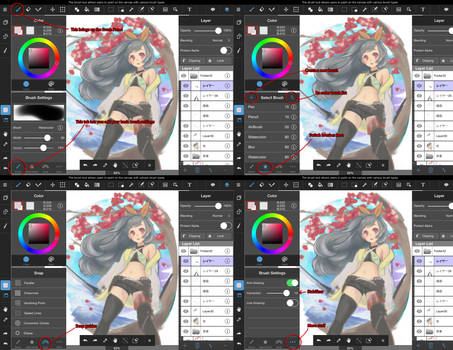 MediBang Paint Tablet iPad brush panel guide