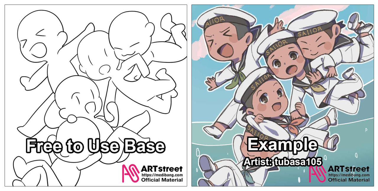Free To Use Chibi Base Group Pose By Medibangadmin On Deviantart Here presented 51+ manga chibi drawing images for free to download, print or share. free to use chibi base group pose by