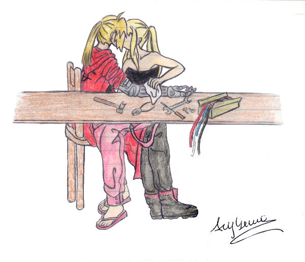 Ed and Winry-Maintenance by AryYuna