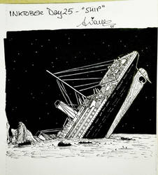 Inktober2017 Day #25 - 'Ship'