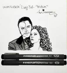 Inktober2017 Day #31 - 'Mask'