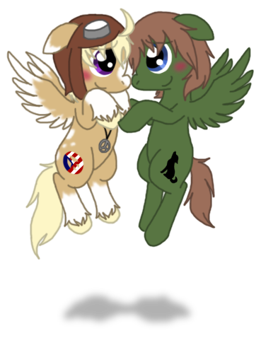 Liet and Alfie by AskLithuaniaPony