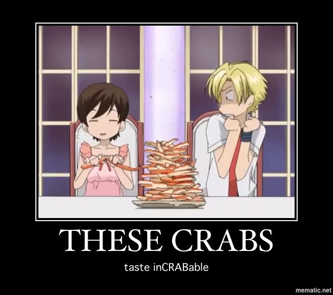 Haruhi's crab pun