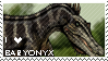 I Love Baryonyx Stamp by CrazedTheratis
