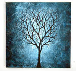 Blue Tree Painting 12X12