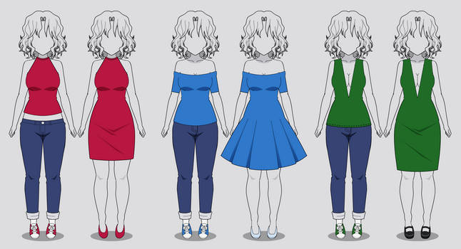 Kisekae: Three New Necklines (with codes)