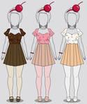 Kisekae Cupcake Dresses in 3 Flavors (w/ codes)