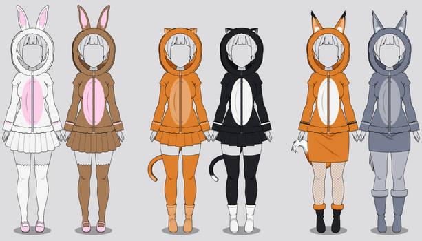 Kisekae Fluffy Animal Hoodies (w/ codes)