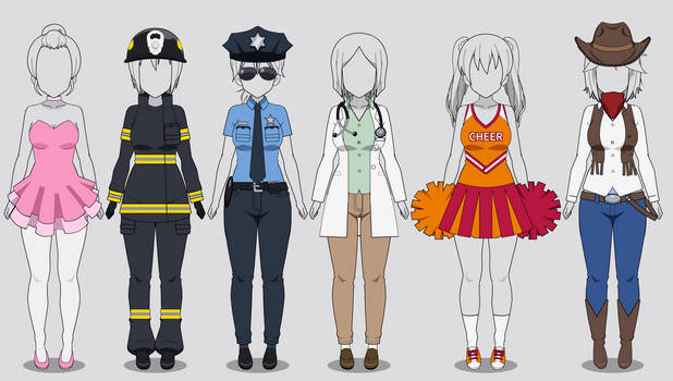 Kisekae Costume Collection 1: Jobs (w/ codes)