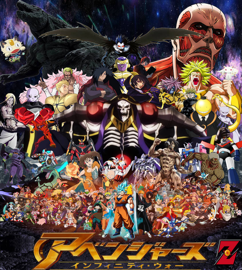 Dragon Ball Manga Tournament Of Power: Anime Avengers: Infinity War Z By Tomzilladoesartsorta On