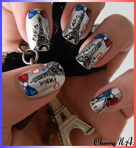 Nail Art Paris By Cherrynailart On Deviantart