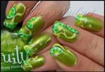Nail art citron au one stroke
