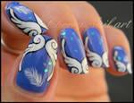 Nail art ailes grecques