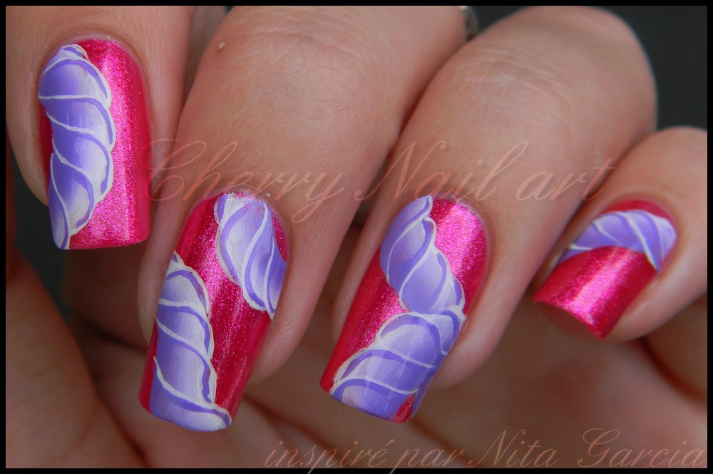 Nail art abstrait au one stroke by cherrynailart ... - Nail Art Abstrait Au One Stroke By Cherrynailart On DeviantArt