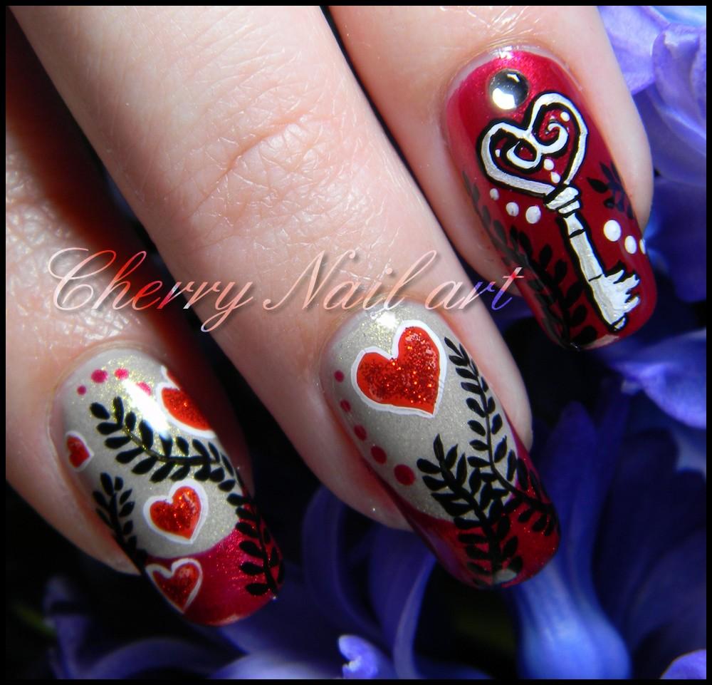 Nail art saint valentin by cherrynailart on DeviantArt