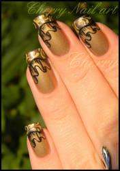 Nail art drape et french baroque