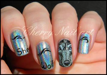 Nail art loup holographique