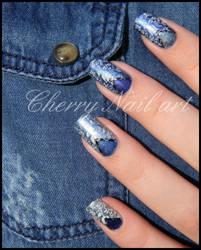 Nail art stamping jean's