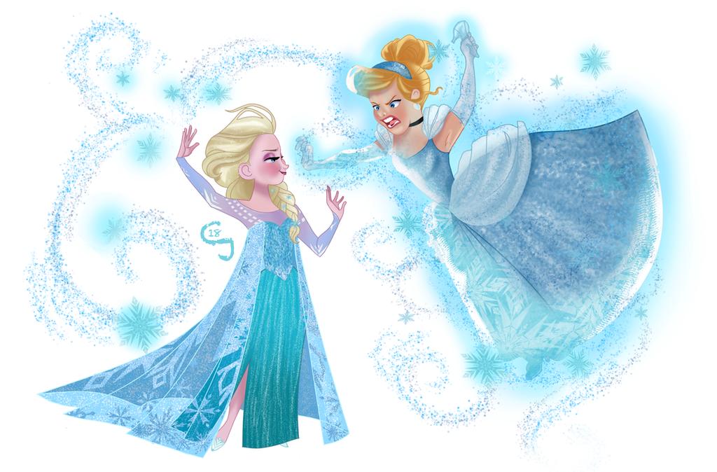Elsa VS Ella by djeffers123