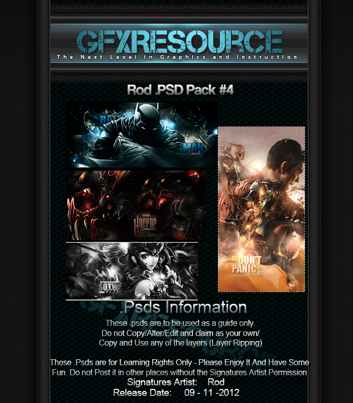 Rod Psd Pack #4 by RodTheSecond