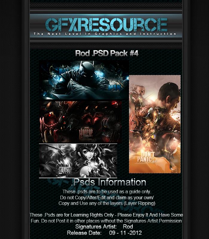 Rod Psd Pack #4 by RodTheSecond