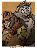 Monster May: Bebop and Rocksteady by BeanyCoffee
