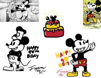 twitch drawing: Mickey Mouse's 90th Bday