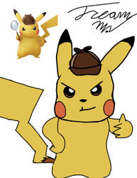 twitch drawing: Detective Pikachu