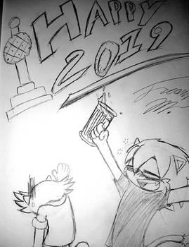 Happy 2019 Sketch