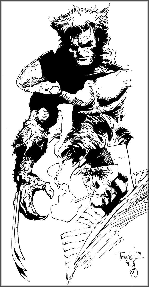 Wolvie 'n Gambit Inked by scribblebri