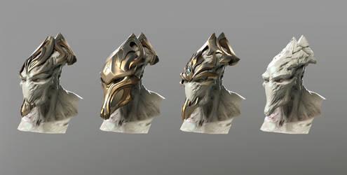 Zealot head and masks render test