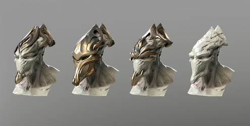 Zealot head and masks render test