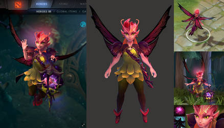 Dota2 Dark Willow hero model and in game icons by DimensionalDrift